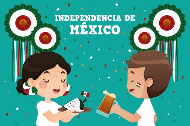 Tema de ilustración del día de la independencia de méxico