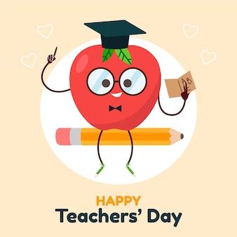 Tema de ilustración del día del maestro
