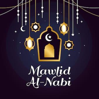 Tema de ilustración del festival mawlid