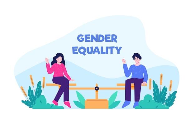 Tema de ilustración de igualdad de género