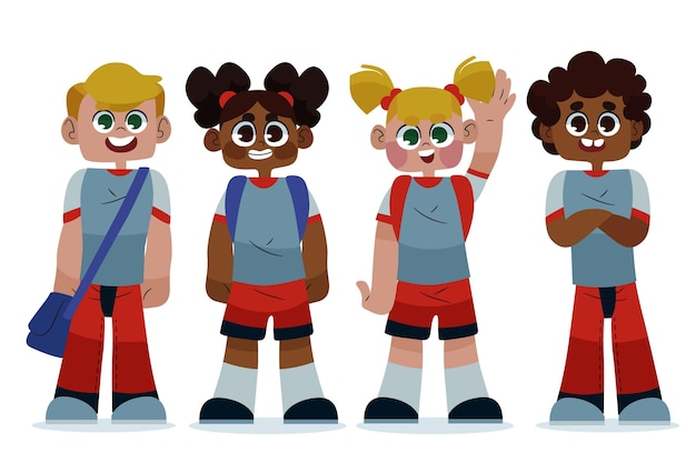 Tema de ilustración de regreso a la escuela
