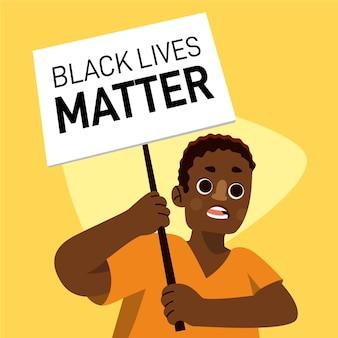 Tema de ilustración de vidas negras importa