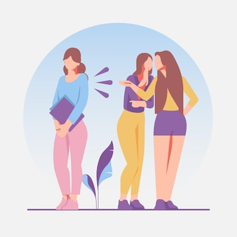 Tema ilustrado de bullying