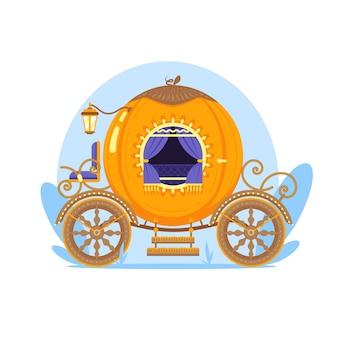 Tema ilustrado del carro de cuento de hadas