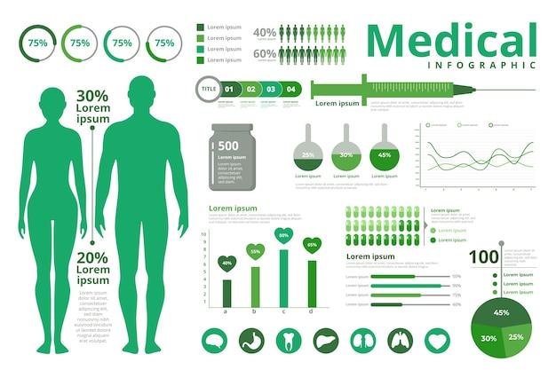 Tema de infografías médicas