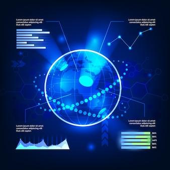 Tema de infografías de tecnología
