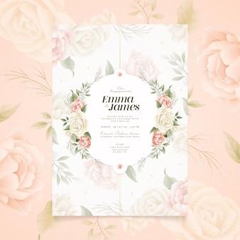 Tema de invitación de compromiso floral