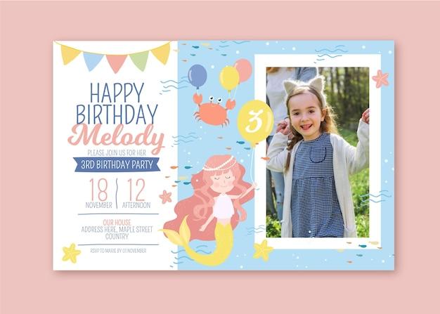 Tema de invitación de cumpleaños para niños