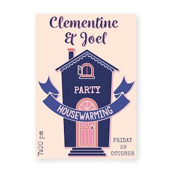 Tema de invitación de fiesta de calentamiento de la casa