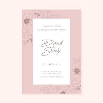 Tema de invitación de lujo femenino guardar la fecha
