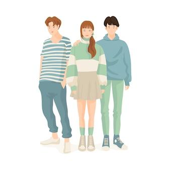 Tema de los jóvenes coreanos de moda