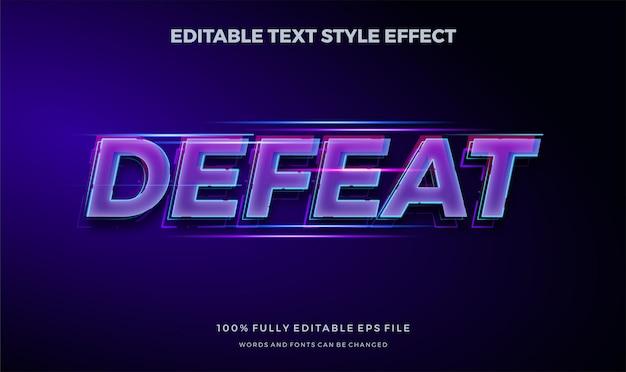 Tema de juego de deporte moderno. efecto de estilo de texto editable moderno.