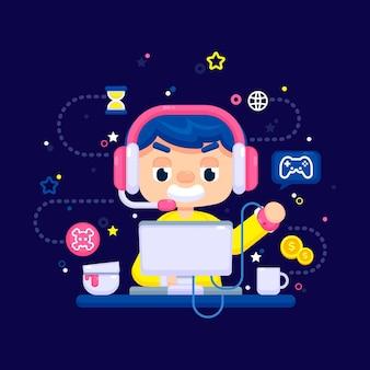 Tema de juegos en línea