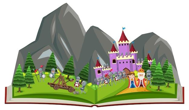 Tema de libro abierto medieval
