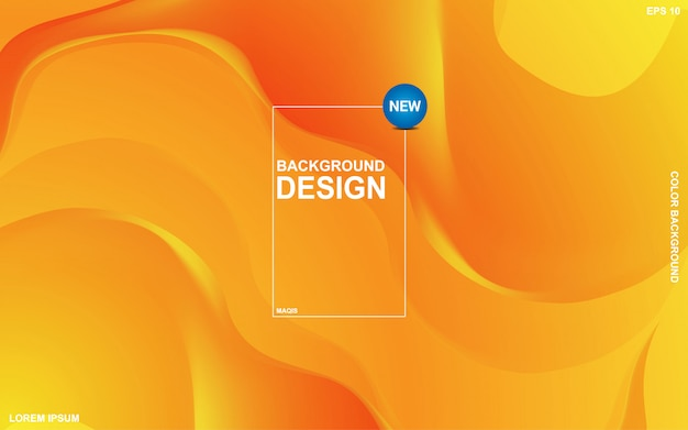 Tema líquido de fondo abstracto con color naranja sunsite. minimalista moderno eps 10