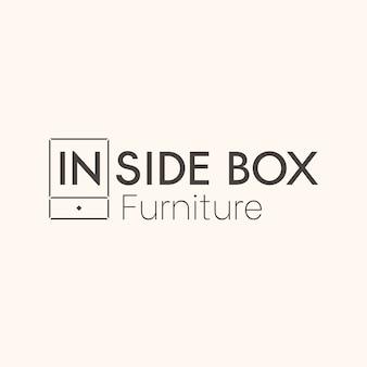 Tema de logotipo de muebles minimalistas