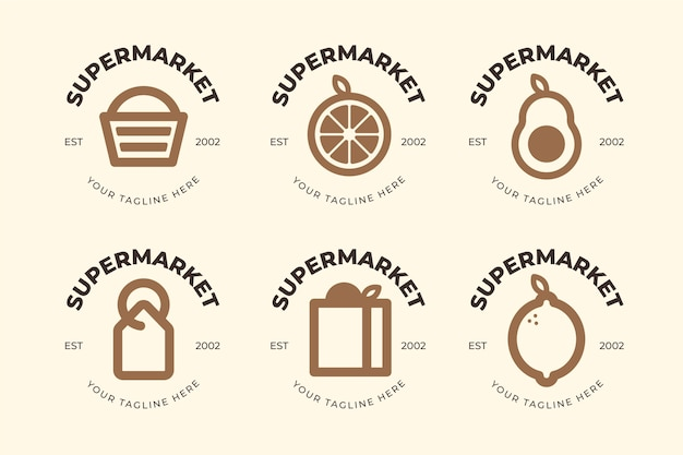 Tema de logotipo de supermercado