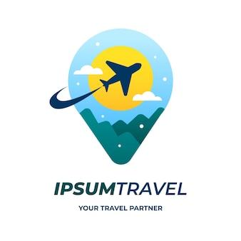 Tema de logotipo de viaje detallado