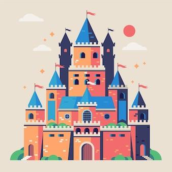 Tema mágico del castillo de cuento de hadas