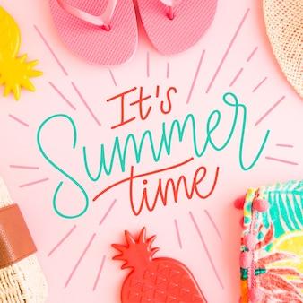 Tema de mensaje de letras de verano