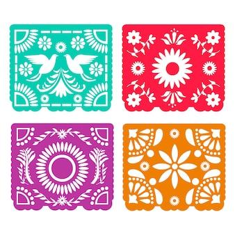 Tema mexicano de la colección del empavesado colorido