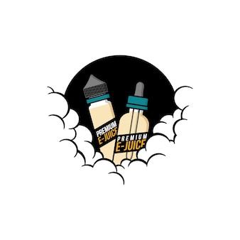Tema nublado vaporizador personal vape e-cigarette