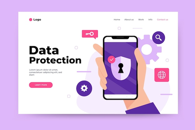 Tema de página de destino de protección de datos
