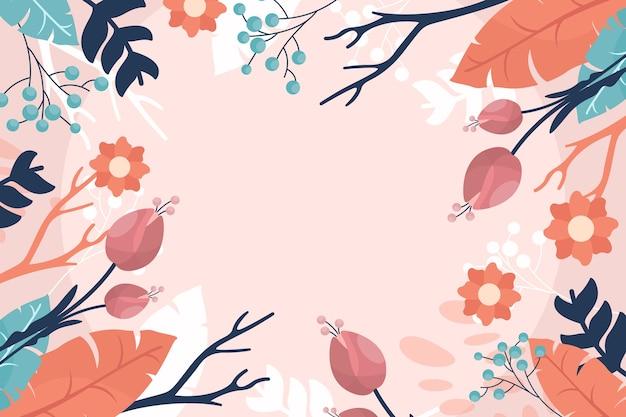 Tema de papel tapiz de primavera acuarela