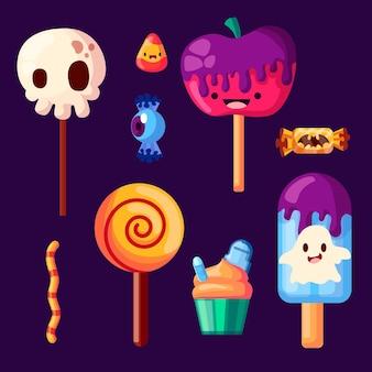 Tema del paquete de dulces del festival de halloween