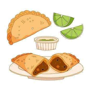 Tema de paquete de empanada