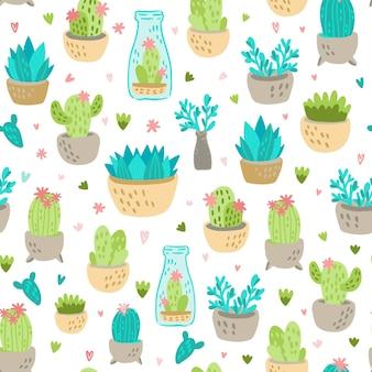Tema de patrón de cactus
