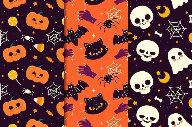 Tema de patrón de festival de halloween