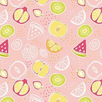 Tema del patrón de frutas