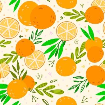 Tema de patrón de frutas