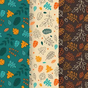 Tema del patrón de otoño