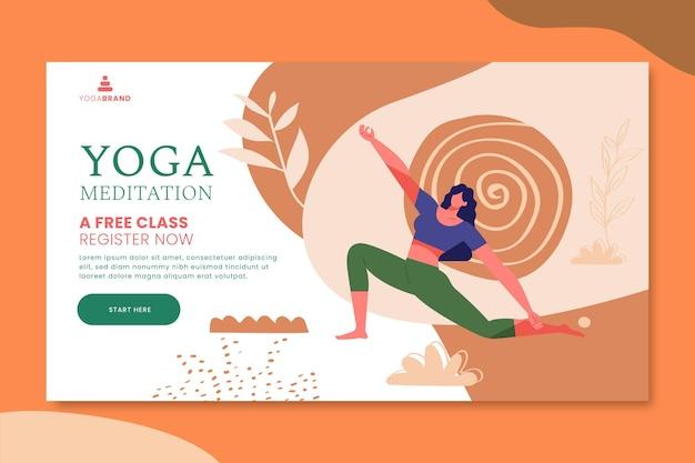 Tema de plantilla de banner de yoga