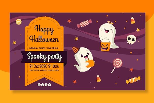 Tema de plantilla de banners de halloween