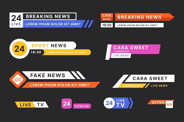 Tema de plantilla de banners de noticias de última hora