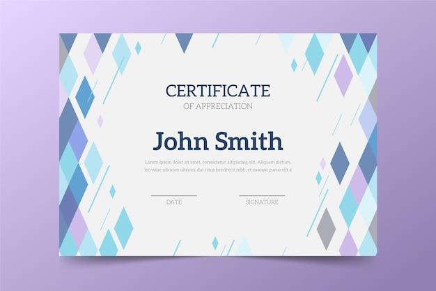 Tema de plantilla de certificado abstracto