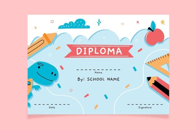 Tema de plantilla de diploma