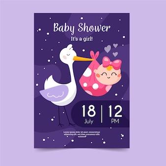 Tema de plantilla de invitación de baby shower