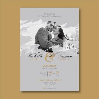 Tema de plantilla de invitación de boda