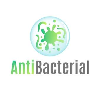 Tema de plantilla de logotipo antibacteriano