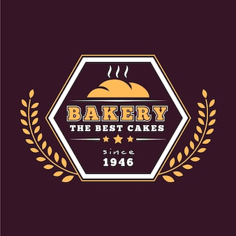 Tema de plantilla de logotipo de backery retro