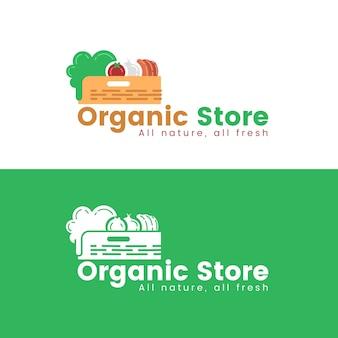 Tema de plantilla de logotipo de supermercado