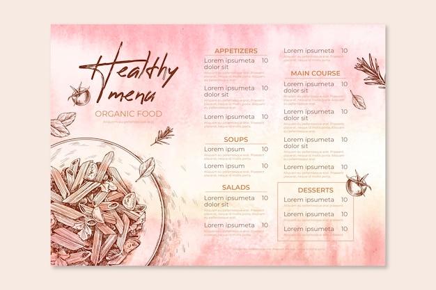 Tema de plantilla de menú de restaurante