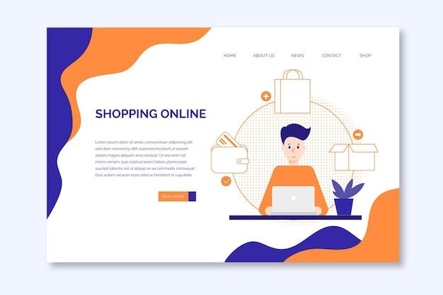 Tema de plantilla de página de destino de compras en línea