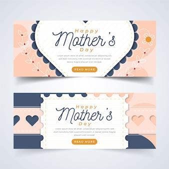 Tema de plantilla para pancartas con el día de la madre