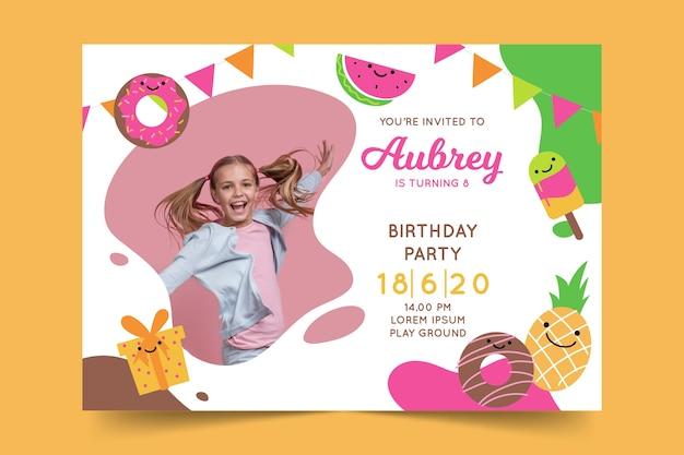 Tema de plantilla de tarjeta de cumpleaños