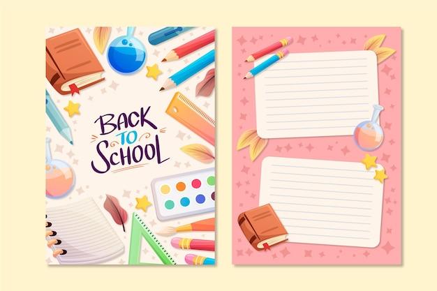 Tema de plantilla de tarjeta de regreso a la escuela